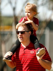 Andrew Curtis and his daughter Aria, age 3 from Gilbert,
