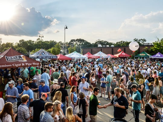 A near-sellout crowd enjoys the 2016 Mississippi Craft Beer Festival.