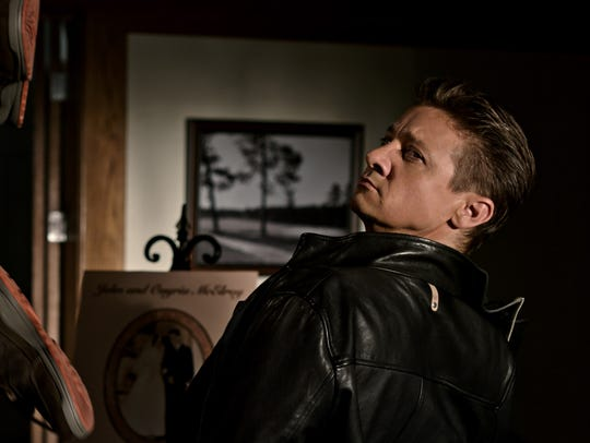 "Jerry (Jeremy Renner) stays one step ahead in ""Tag."""