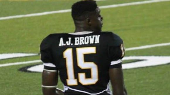 Starkville wideout A.J. Brown.