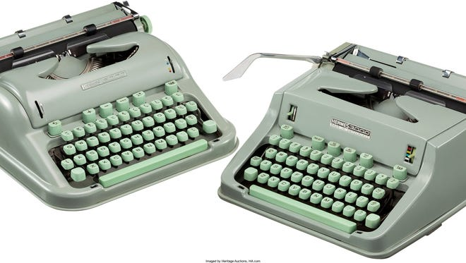 """This undated photo provided by Heritage Auctions shows two of Larry McMurtry's typewriters he is selling which he used to write his Pulitzer Prize-winning novel """"Lonesome Dove."""" Heritage Auctions is offering up the typewriters in New York City next week and the Dallas-based auction house expects them to sell for about $20,000. (Heritage Auctions/HA.com via AP)"""