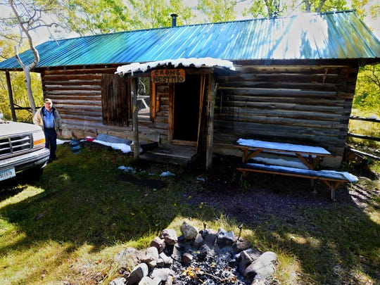 "This cabin was constructed in 1923 southwest of East Glacier Park on land homesteaded by David Lutz and his son, Ray Lutz. ""He was a mountain man I guess,"" David Lutz says of his great grandfather David Lutz."