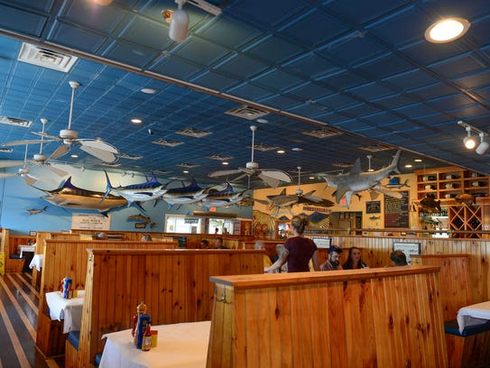 A view inside Big Fish Grill in Rehoboth Beach.