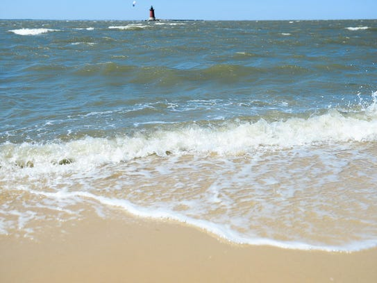 Water rolls into the bayside of Cape Henlopen State