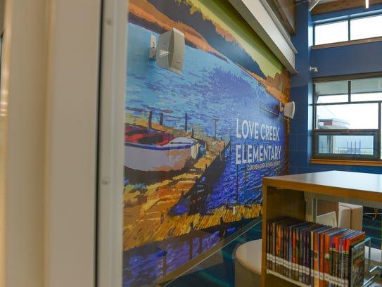 The New Love Creek Elementary School Held A Ribbon