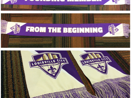 Louisville City FC's Founding Member's Club scarf.