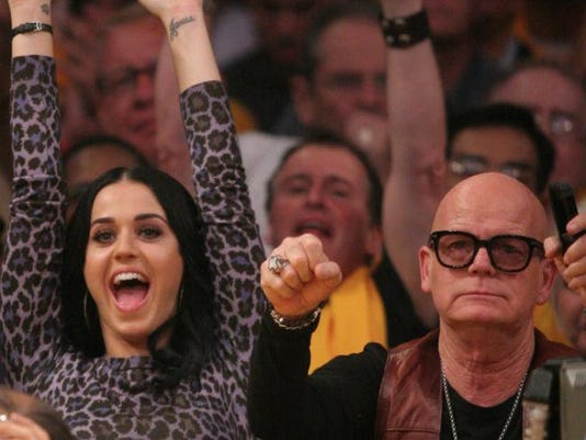Katy Perry and her dad Keith Hudson