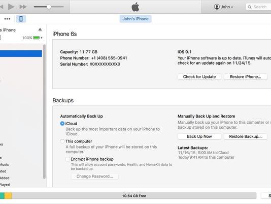 iTunes Backup - a
