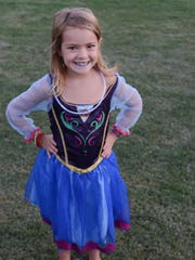 Aliyah Andrews went all out for the Summer Frozen Celebration at Drakes Creek Park in Hednersonville on Friday July 24.