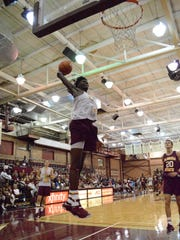 Jonathan Isaac skies for a dunk at the Jam with Ham.