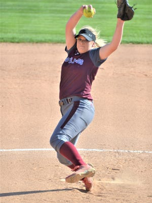 Brownwood sophomore pitcher Chyanne Ellett, pictured here in a March 17 game against Sweetwater, has already committed to the University of Texas at Arlington.