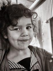 Sophia Salazar at 4 years old.