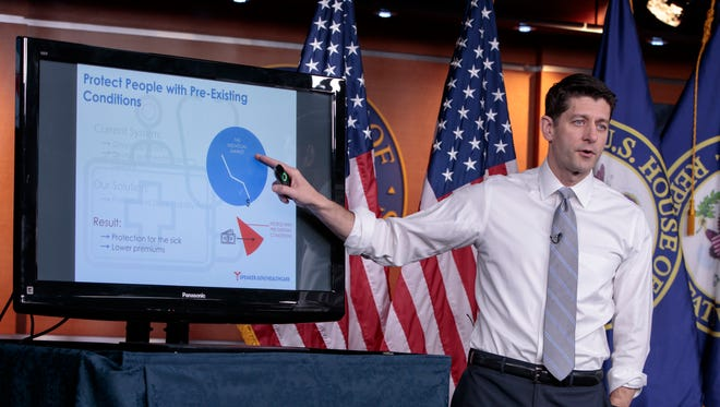 Outgoing Speaker of the House Paul Ryan in Washington on March 9, 2017.