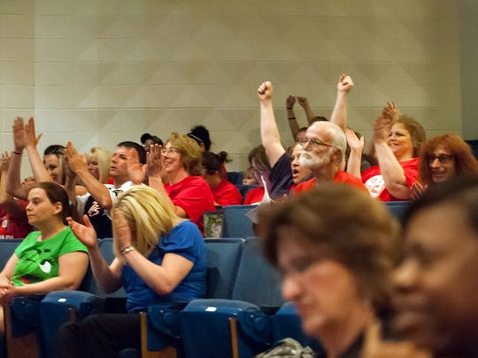 Lamora Park Elementary supporters react to the news that their school will not be closing.