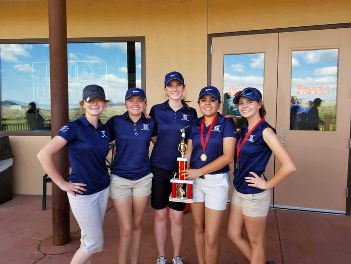 The Silver High girls golf team placed first at the