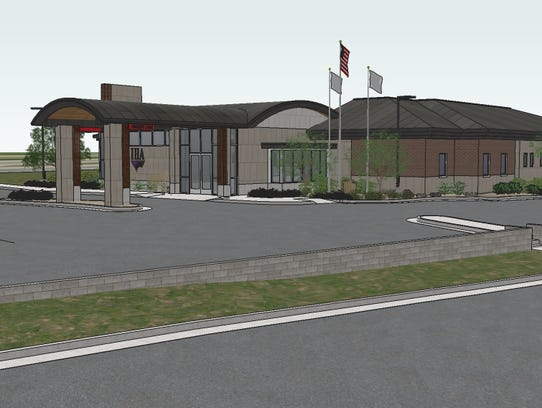 An architectural rendering depicts a proposed IHA medical