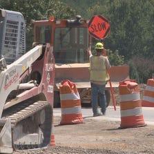 Construction at South Northshore Drive and Choto Rd.