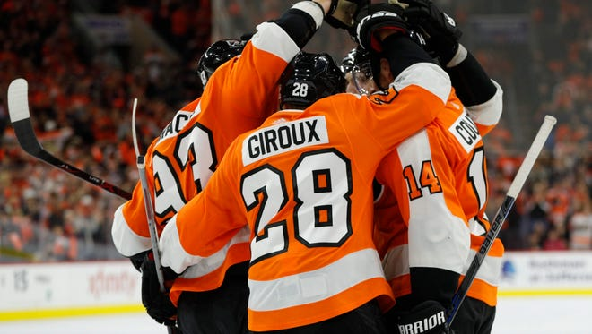 The Flyers are feeling pretty good about their game so far. Only the Toronto Maple Leafs have scored at a higher clip entering Monday's action.