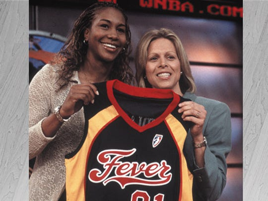 Tamika Catchings, a forward out of the University of Tennessee, was drafted by the Indiana Fever with the third overall selection in the 2001 WNBA Draft.