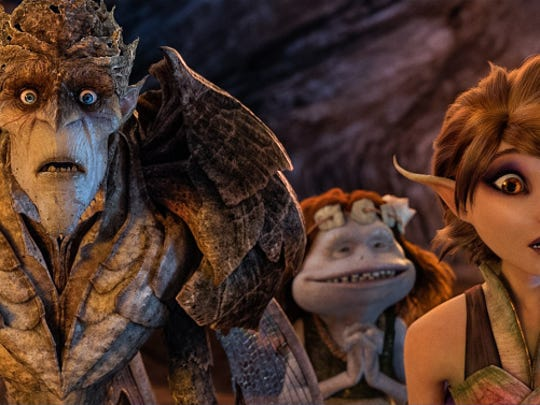 "Bog King (voice of Alan Cumming), Griselda (voice of Maya Rudolph) and Marianne (voice of Evan Rachel Wood) are part of a colorful cast of goblins, elves, fairies and imps in ""Strange Magic,"" a madcap fairy tale musical inspired by ""A Midsummer Night's Dream."""