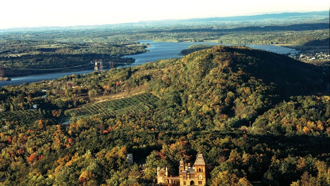The views from Olana, one of many Hudson Valley sights with breathtaking views.