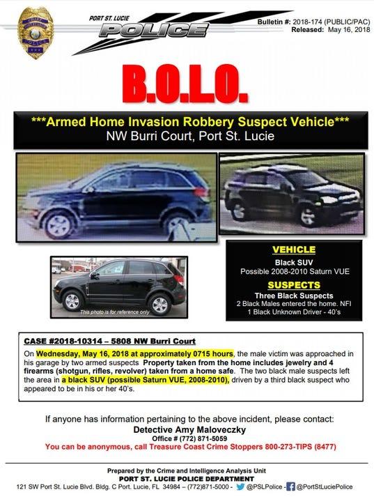 Port St. Lucie Police crime bulletin