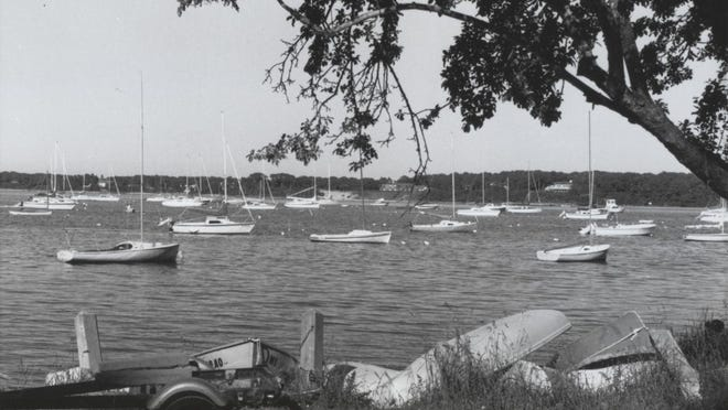 Boats on North Bay make for a pleasant early summer scene in June 1990.