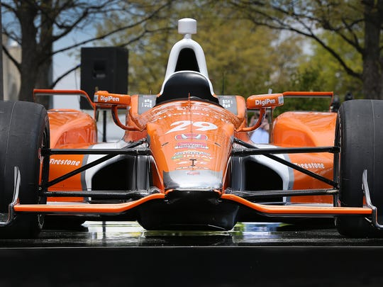 Steve Eriksen, COO of Honda Performance Development, talked about the changes and improvements to Simona De Silvestro's car after they unveiled Honda's super speedway new aero kit Thursday afternoon at the Indianapolis Motor Speedway.