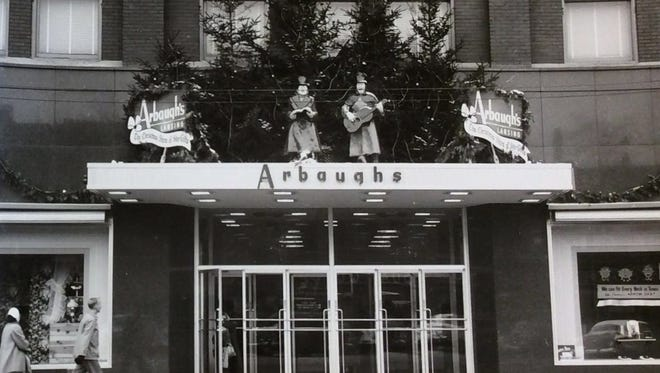 Arbaugh's department store at Christmas, undated photo.