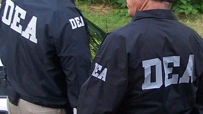 File photo of Drug Enforcement Administration agents