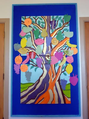 Fruit of the Spirit, an artwork by Rana Ghana, at the First United Methodist Church in Salinas.