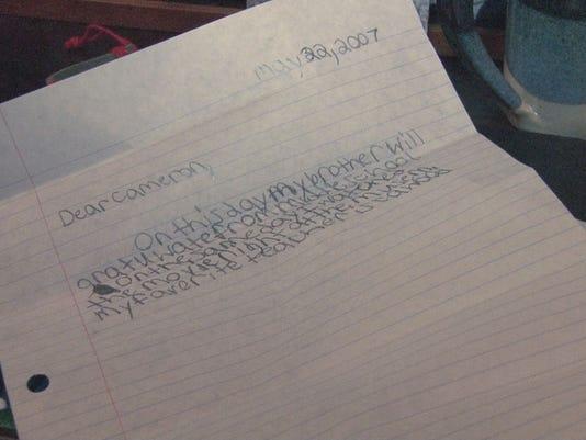 Cameron Sharp's Letter