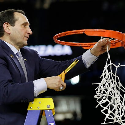 Duke coach Mike Krzyzewski's 86 NCAA tournament wins is 21 more than the tie for second place, Roy Williams and Dean Smith of North Carolina with 65.