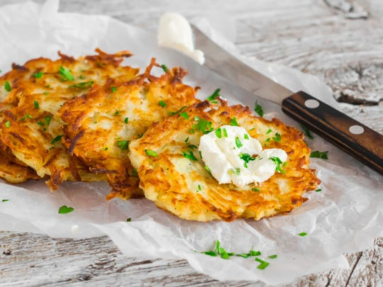 Latkes are on the menu at Paws Discovery Farm.