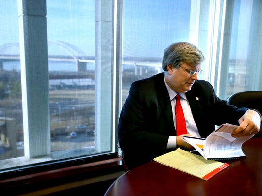 Memphis Mayor Jim Strickland discusses his first year as mayor in his office at City Hall.