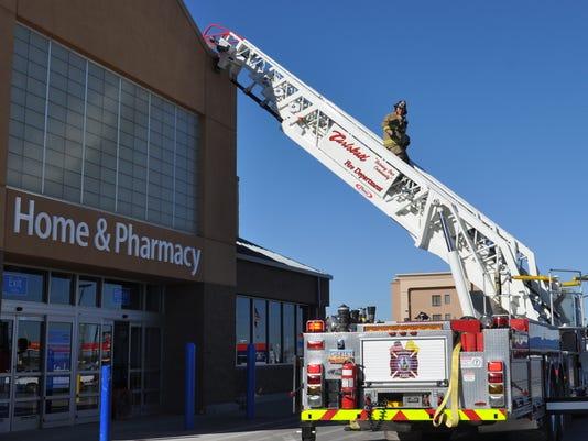 Fire at Wal-Mart