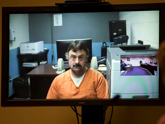 Wendell Noyes appears via a video arraignment from