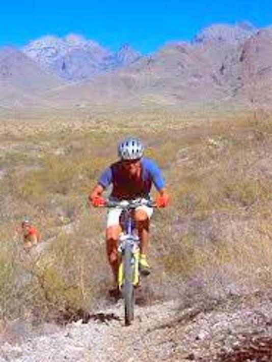 mountain biking on blm trail