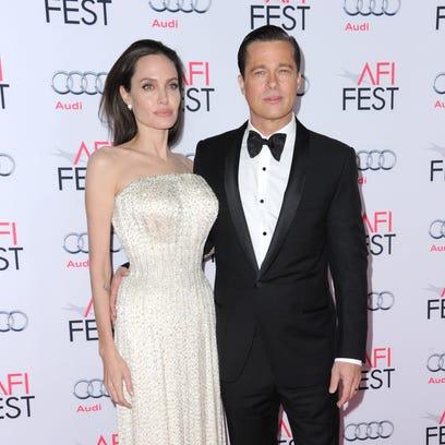 On Nov. 5, 2015 Angelina Jolie and Brad Pitt arrive