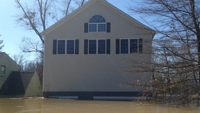 The front of the home where Courier Journal's Lucas Aulbach lived at the time of the flood. Feb. 26, 2018