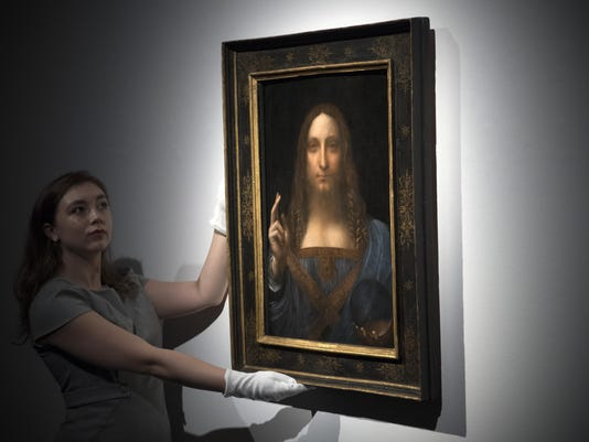 Christie's Previews Leonardo Da Vinci's Salvator Mundi Prior To Auction