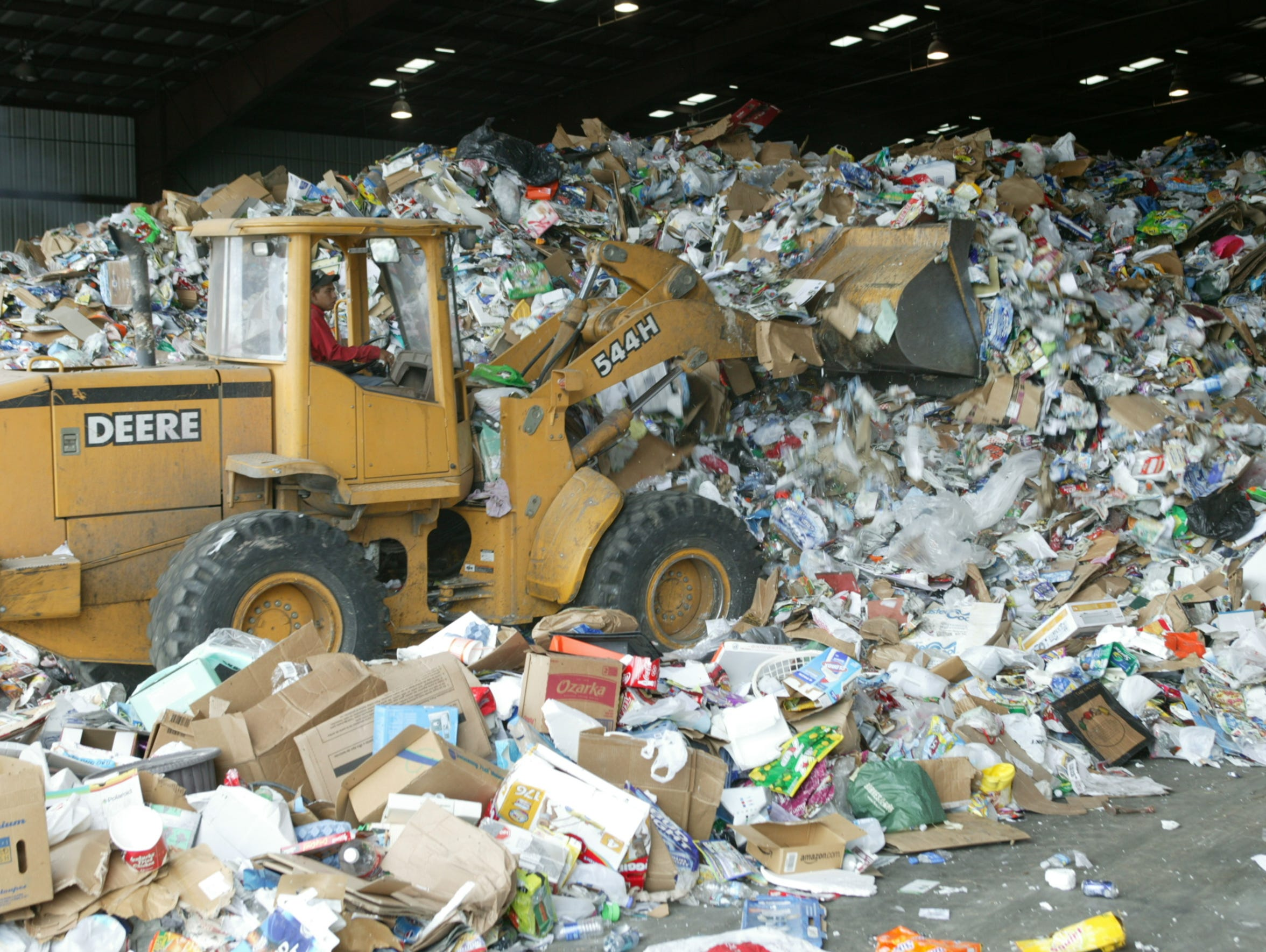 The tipping floor at Friedman Recycling, where recyclables from Las Cruces and Doña Ana County are managed.
