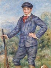 'Jean as a Huntsman (Jean en chasseur)' is a 1910 oil on canvas work by Renoir, Pierre-Auguste  (1841–1919).