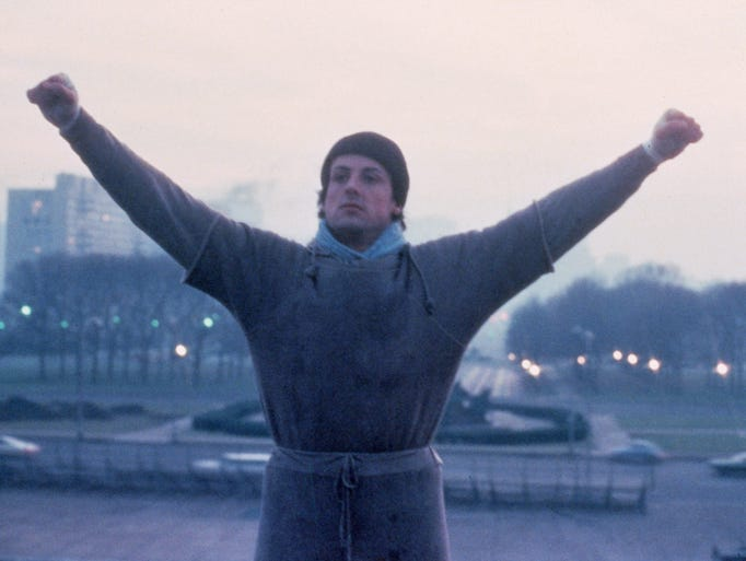 "The 1976 film ""Rocky"" was almost more of a longshot than the bum fighter onscreen. Rocky Balboa (Sylvester Stallone) gets a shot at the big time and makes the best of it. The film itself was shot on a lean budget of less than $1 million."