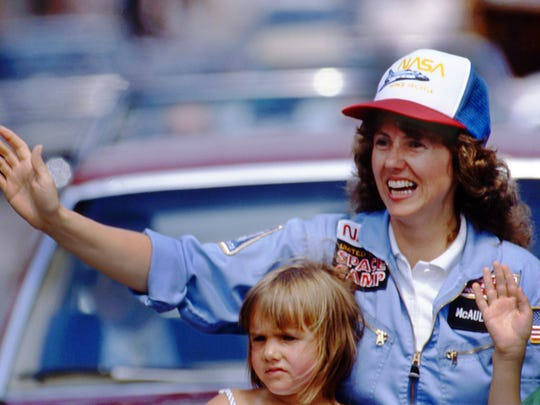 In this 1985 photo, high school teacher Christa McAuliffe