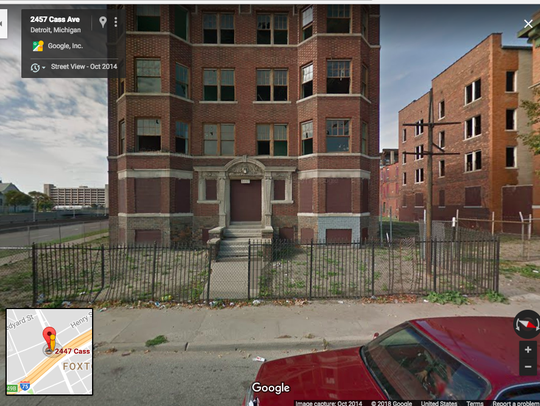 A Google Street View image of 2447 Cass Ave. in October