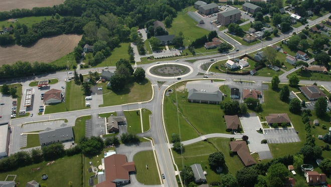 The roundabout in Spring Grove, York County, was built in 2007.