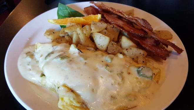 The Sam I Am omelette ($9) offered on the new breakfast menu at Cafe A Go Go, 1120 Commerce Drive.
