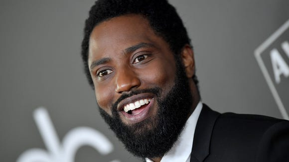 John David Washington attends the Hollywood Film Awards.