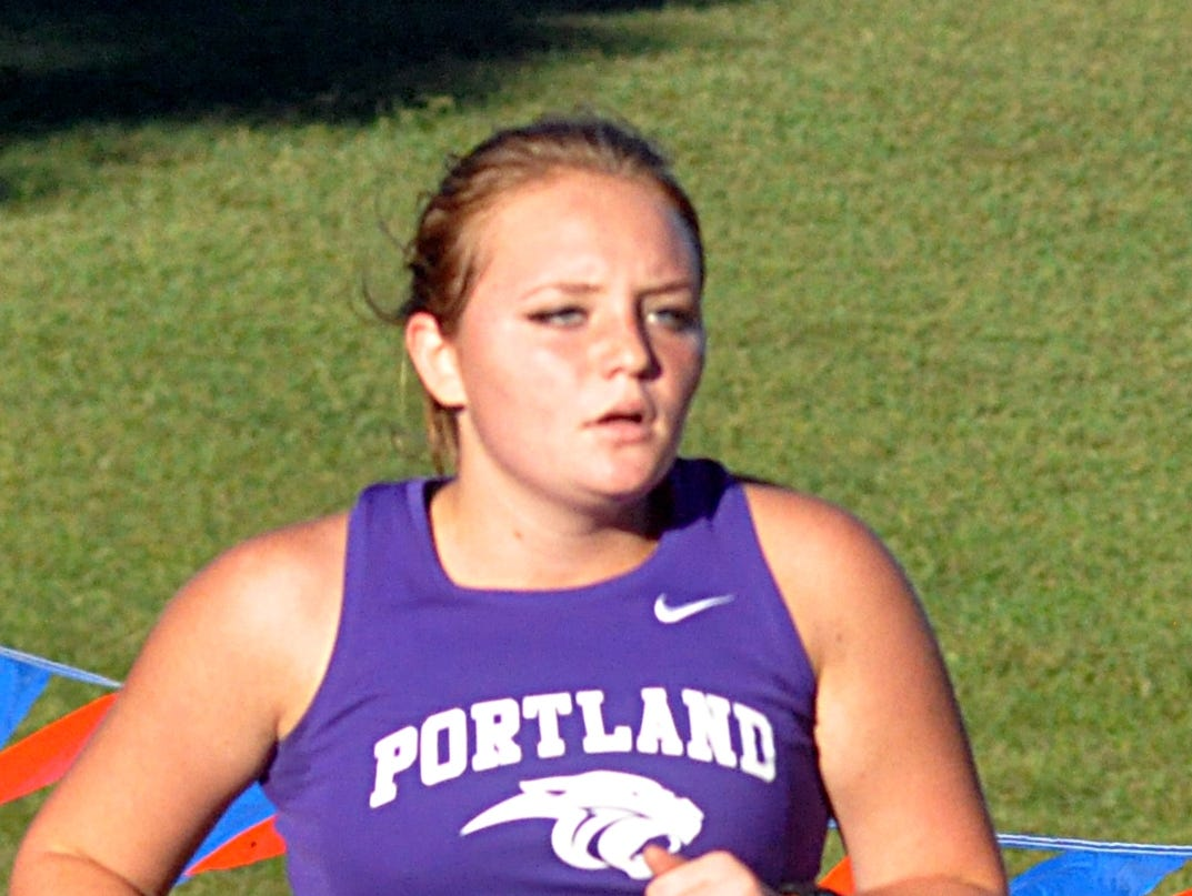 Portland High junior Katrina Moffitt finished 28th in Tuesday's Sumner County Championship cross country meet.